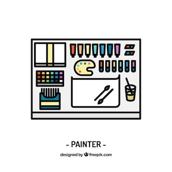 Disegno pittore di lavoro