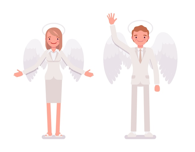 Pair of angels, man and woman