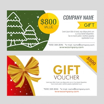 Pair of christmas gift coupon