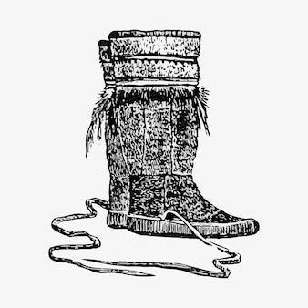 Pair of eskimo boots
