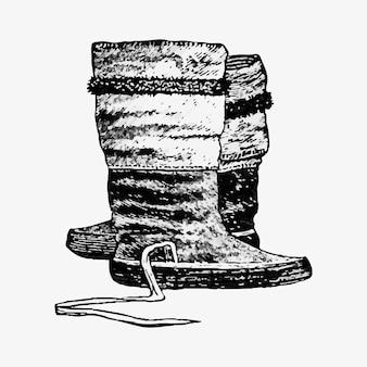 Paio di stivali eschimesi