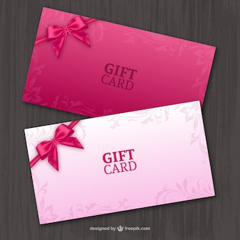 Pair of gift cards