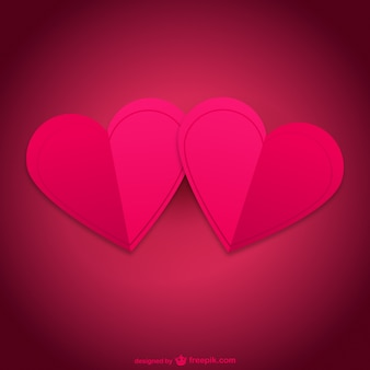 Pair of hearts card