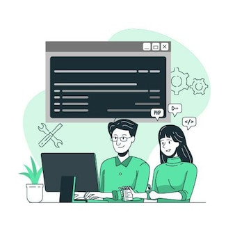 Pair programming concept illustration