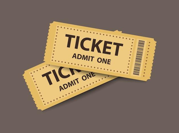 Pair of stub tickets