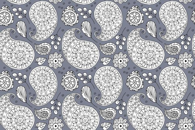 Paisley bandana pattern