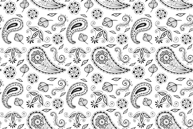 Paisley bandana pattern