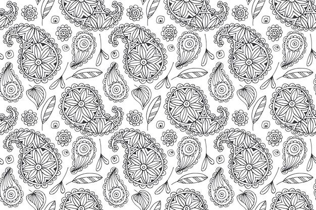페이즐리 두건 패턴