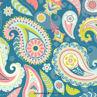 Paisley, full color background