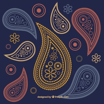 Paisley ornaments background