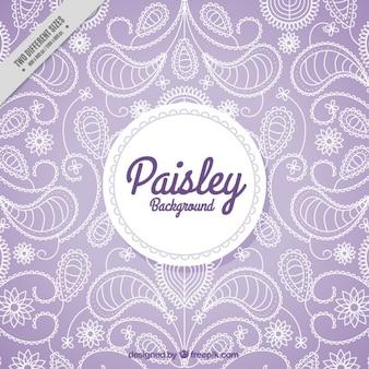 ペイズリー紫色の背景 無料ベクター