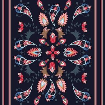 페이즐리 스타일 완벽 한 패턴