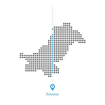 파키스탄 도트지도 디자인 벡터