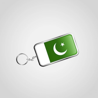 Pakistan flag key ring design vector