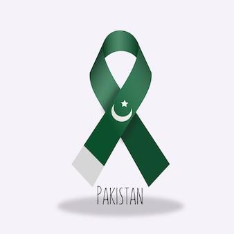 Pakistan flag ribbon design