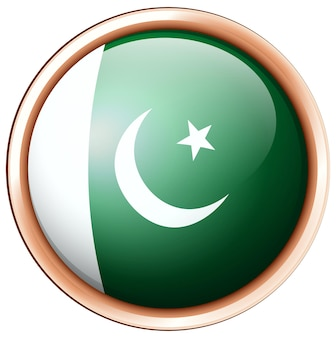 Bandiera del pakistan in cornice rotonda