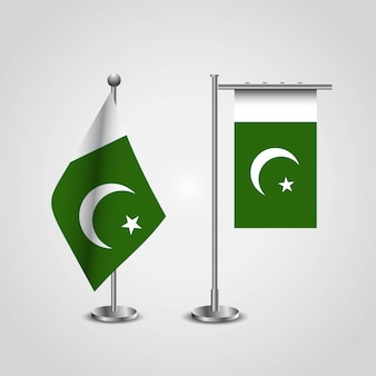 Pakistan flag with creative design vector