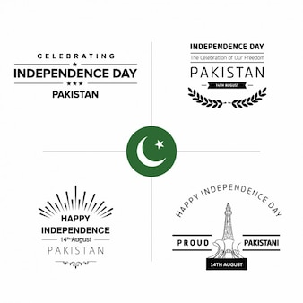 パキスタン独立記念日バッジ