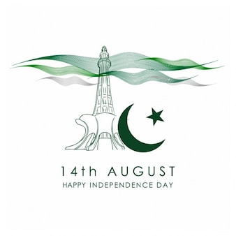 Pakistan independence day celebration card