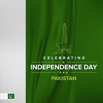Pakistan astratta independence day flag