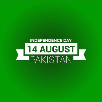 Pakistan independence day typography