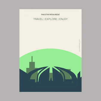 Pakistan monument islamabad, pakistan landmark poster