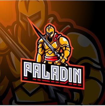 Дизайн логотипа талисмана паладина киберспорта