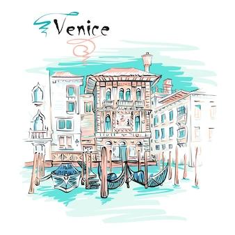 Palazzo on the grand canal, venice, italia