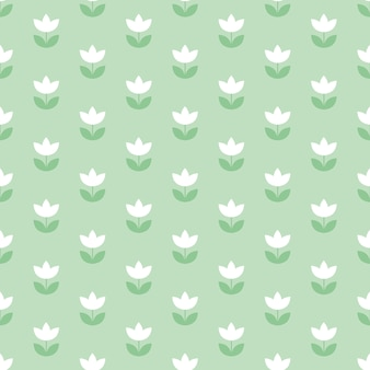 Pale color holland tulip repeatable motif. simple laconic  illustration design.