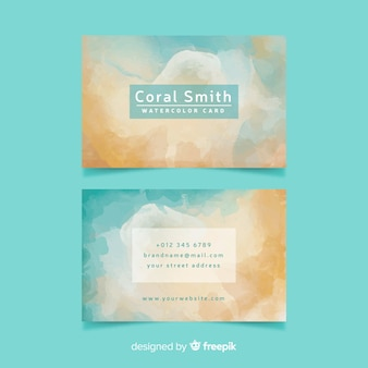 Pale colored abstract business card