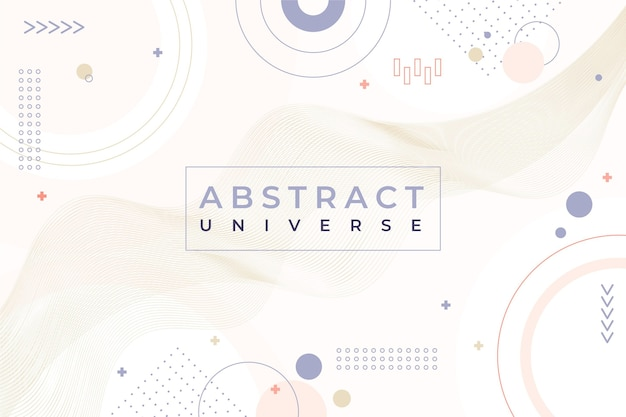 Pale colored flat design abstract background