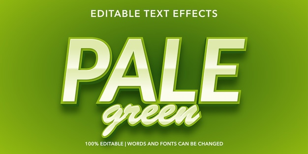 Pale green editable text effect