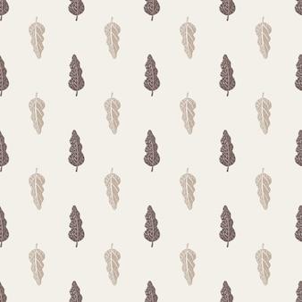 Бледный фон с серым орнаментом из листьев. фон природы. декоративные элементы.