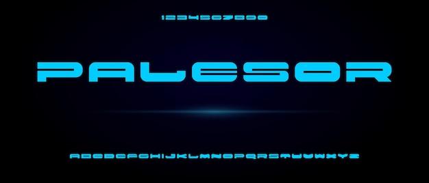 Палесор, абстрактный современный сжатый алфавит с шаблоном городского стиля