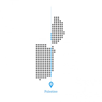 Palestine doted map design vector