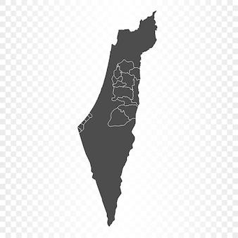 Изолированный рендеринг карты палестины
