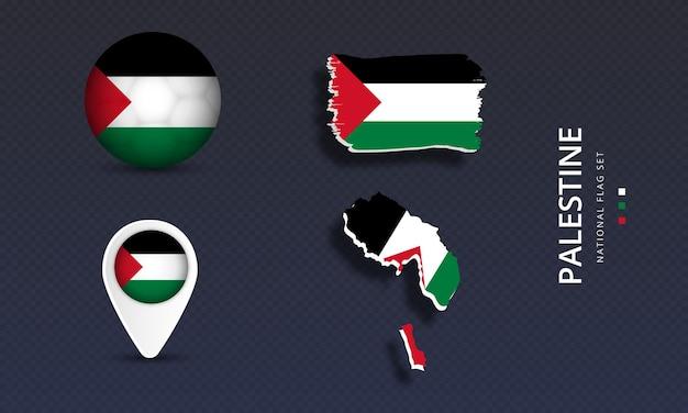 Набор флагов палестинской национальной страны