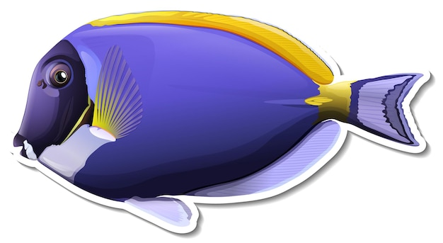 Palette surgeonfish sea animal sticker
