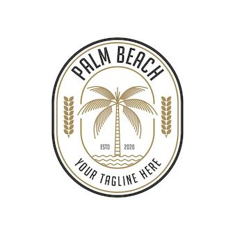パームビーチのヴィンテージのロゴのデザインテンプレート