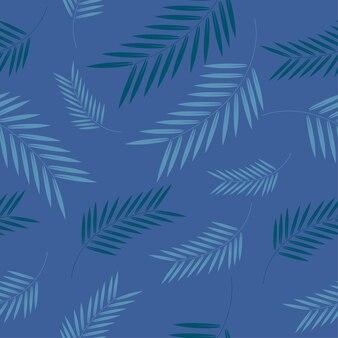 Palm on blue