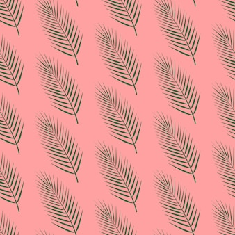 Palm leaf pattern on pink background