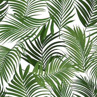 ヤシの葉のシームレスなパターン
