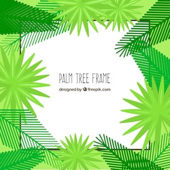 Рамка для пальм в плоском дизайне