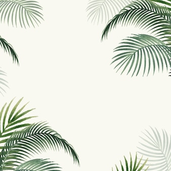 Palm leaves mockup illustration Free Vector