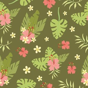 야자수 잎 패턴