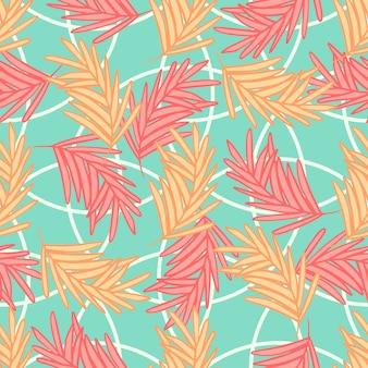シュロの葉シームレスなカラフルな抽象的なパターン