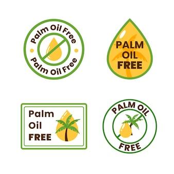 Set di segni senza olio di palma