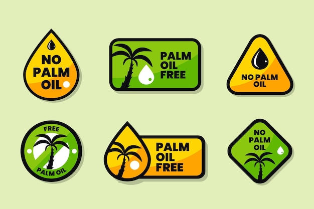Palm oil sign collection