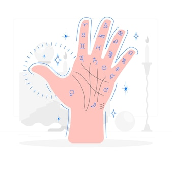 Palm reading concept illustration
