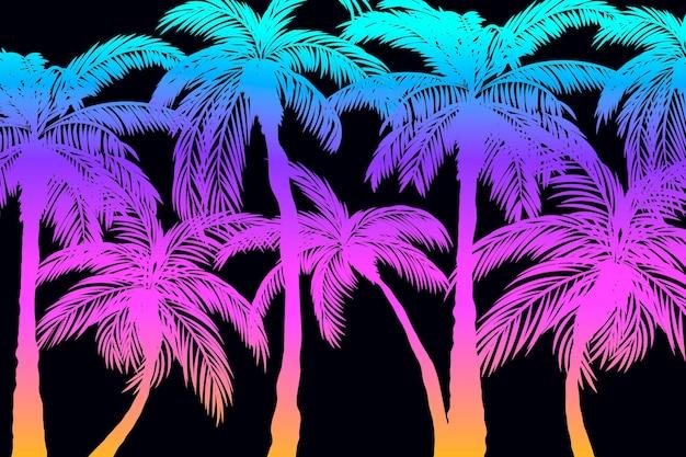 Palm силуэты обоев